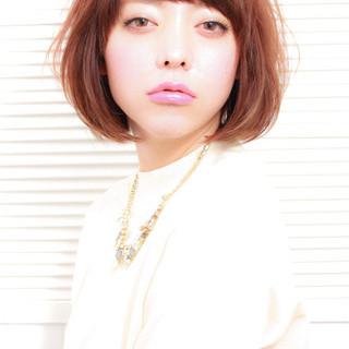 ボブ 渋谷系 前髪あり ストリート ヘアスタイルや髪型の写真・画像