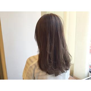 暗髪 ロング グレージュ 外国人風 ヘアスタイルや髪型の写真・画像