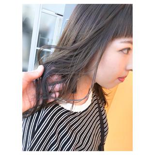 ヌーディベージュ セミロング ブルージュ ストリート ヘアスタイルや髪型の写真・画像 ヘアスタイルや髪型の写真・画像