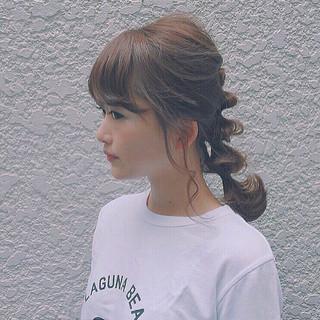 大人かわいい ヘアアレンジ ゆるふわ ミディアム ヘアスタイルや髪型の写真・画像 ヘアスタイルや髪型の写真・画像