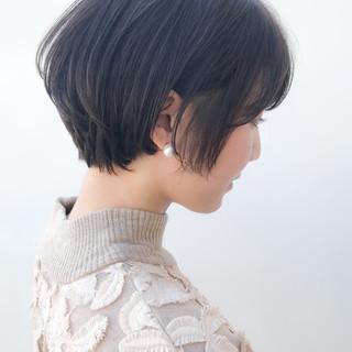 コンサバ 横顔美人 ショート ハンサムショート ヘアスタイルや髪型の写真・画像 ヘアスタイルや髪型の写真・画像