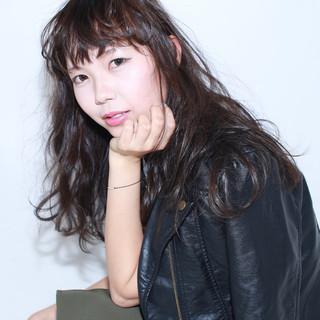 イルミナカラー 前髪あり セミロング ナチュラル ヘアスタイルや髪型の写真・画像 ヘアスタイルや髪型の写真・画像