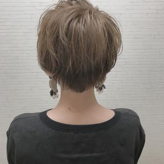 小顔 似合わせ ショート デート ヘアスタイルや髪型の写真・画像