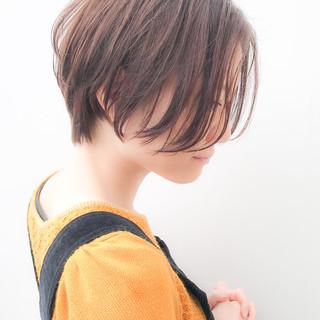 ハンサムショート コンサバ 横顔美人 大人かわいい ヘアスタイルや髪型の写真・画像