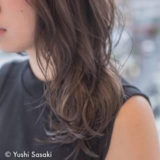 外国人風 大人かわいい グラデーションカラー アッシュ ヘアスタイルや髪型の写真・画像