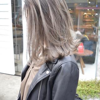 ボブ 外国人風カラー バレイヤージュ ストリート ヘアスタイルや髪型の写真・画像