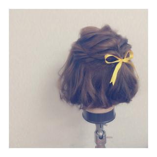 簡単ヘアアレンジ フェミニン ゆるふわ ヘアアレンジ ヘアスタイルや髪型の写真・画像