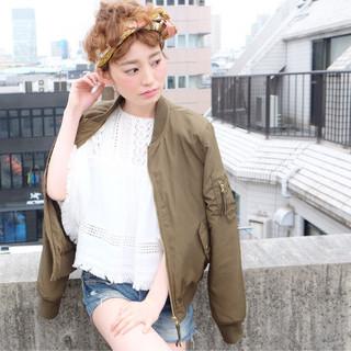 ストリート ショート 外国人風 簡単ヘアアレンジ ヘアスタイルや髪型の写真・画像