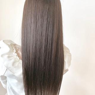 透明感カラー ロング 簡単スタイリング 髪質改善カラー ヘアスタイルや髪型の写真・画像