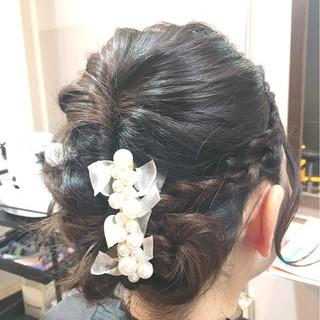 パーティ フェミニン ヘアアレンジ ロング ヘアスタイルや髪型の写真・画像