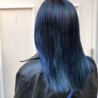 モード デート 外国人風カラー セミロング ヘアスタイルや髪型の写真・画像