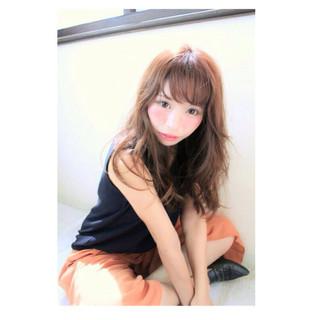 ガーリー おフェロ ロング ヘアアレンジ ヘアスタイルや髪型の写真・画像 ヘアスタイルや髪型の写真・画像