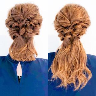 ロング フェミニン 大人女子 簡単ヘアアレンジ ヘアスタイルや髪型の写真・画像