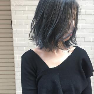 エレガント 謝恩会 ボブ ブリーチ ヘアスタイルや髪型の写真・画像