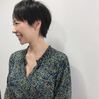 大人女子 大人カジュアル ショート 福岡市 ヘアスタイルや髪型の写真・画像