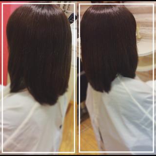 艶髪 髪質改善カラー ナチュラル 大人ヘアスタイル ヘアスタイルや髪型の写真・画像