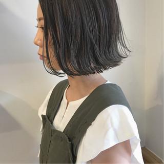 ショートボブ ボブ 切りっぱなし 外ハネ ヘアスタイルや髪型の写真・画像