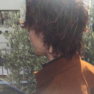 メンズヘア メンズスタイル マッシュウルフ ストリート ヘアスタイルや髪型の写真・画像