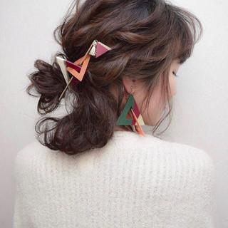 デート 結婚式 ヘアアレンジ 成人式 ヘアスタイルや髪型の写真・画像