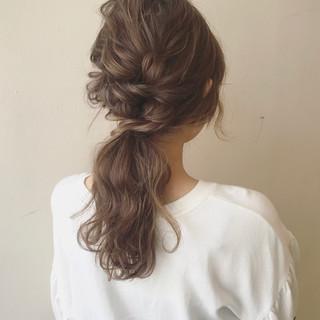 セミロング 女子会 デート ナチュラル ヘアスタイルや髪型の写真・画像
