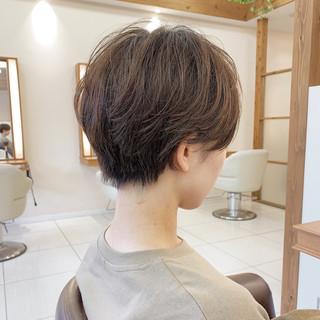 ハンサムショート ナチュラル ショート 可愛い ヘアスタイルや髪型の写真・画像