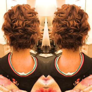 エレガント ヘアアレンジ 振袖 上品 ヘアスタイルや髪型の写真・画像