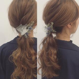 ショート 結婚式 ロング モテ髪 ヘアスタイルや髪型の写真・画像