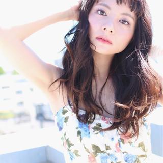 黒髪 ピュア 外国人風 ロング ヘアスタイルや髪型の写真・画像