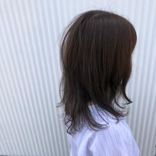 ミディアム 結婚式 アウトドア フェミニン ヘアスタイルや髪型の写真・画像
