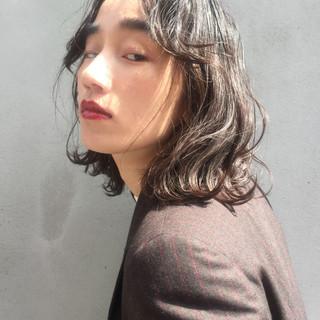 ボブ 黒髪 切りっぱなしボブ ガーリー ヘアスタイルや髪型の写真・画像