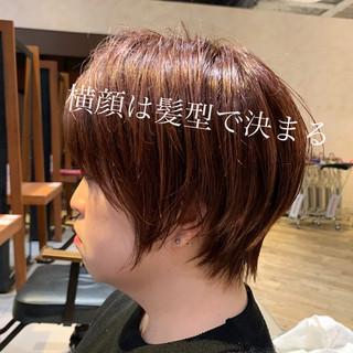ショートボブ オフィス デート ナチュラル ヘアスタイルや髪型の写真・画像