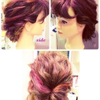 くるりんぱ 大人かわいい ラフ ヘアアレンジ ヘアスタイルや髪型の写真・画像