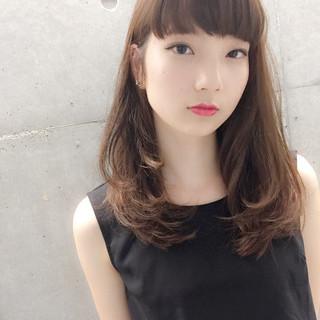ロング 暗髪 モード 外国人風 ヘアスタイルや髪型の写真・画像