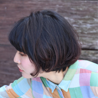 黒髪 ナチュラル ワンカール 大人かわいい ヘアスタイルや髪型の写真・画像