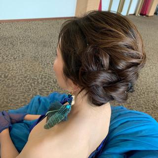 モード ロング 結婚式 ヘアスタイルや髪型の写真・画像