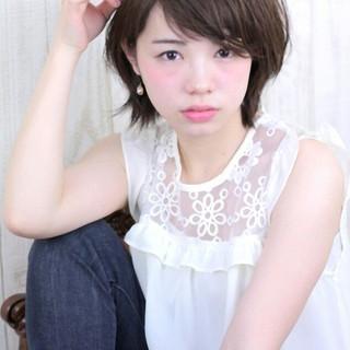 ゆるふわ ショート 大人かわいい パーマ ヘアスタイルや髪型の写真・画像 ヘアスタイルや髪型の写真・画像