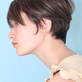 ショートヘア デート ショート ナチュラル ヘアスタイルや髪型の写真・画像