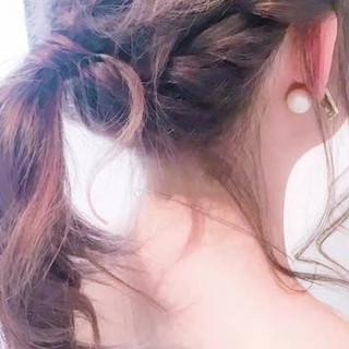 デート ポニーテール ルーズ ヘアアレンジ ヘアスタイルや髪型の写真・画像