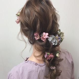 成人式 結婚式 フェミニン セミロング ヘアスタイルや髪型の写真・画像