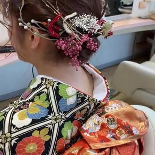 ヘアアレンジ ヘアセット ボブ 結婚式 ヘアスタイルや髪型の写真・画像