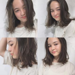 ガーリー 外国人風 抜け感 ミディアム ヘアスタイルや髪型の写真・画像 ヘアスタイルや髪型の写真・画像