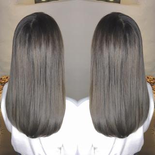 シルバー ストリート 外国人風 ロング ヘアスタイルや髪型の写真・画像