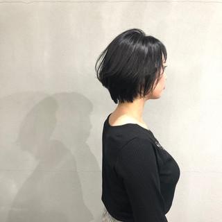 ショート ショートボブ ナチュラル 簡単スタイリング ヘアスタイルや髪型の写真・画像