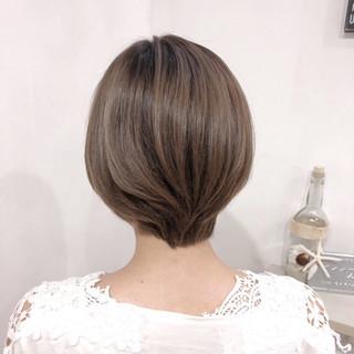 透明感 ナチュラル ショート 伸ばしかけ ヘアスタイルや髪型の写真・画像