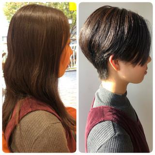 ショートボブ 黒髪 ショート モード ヘアスタイルや髪型の写真・画像