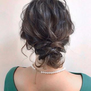 黒髪 簡単ヘアアレンジ 結婚式 ボブ ヘアスタイルや髪型の写真・画像 ヘアスタイルや髪型の写真・画像
