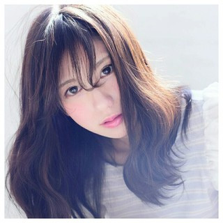 前髪あり 大人かわいい おフェロ フェミニン ヘアスタイルや髪型の写真・画像