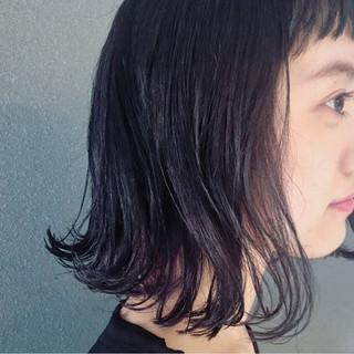 前髪あり 黒髪 ピュア ワイドバング ヘアスタイルや髪型の写真・画像
