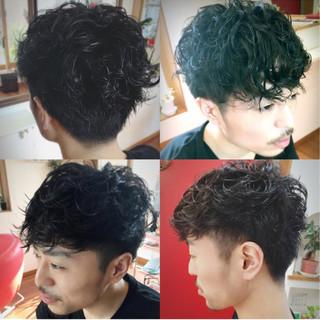 モテ髪 ショート パーマ ボーイッシュ ヘアスタイルや髪型の写真・画像