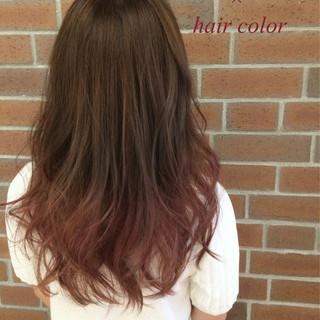 ロング グラデーションカラー 外国人風 アッシュ ヘアスタイルや髪型の写真・画像